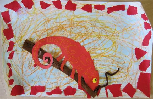 caméléon rouge - copie